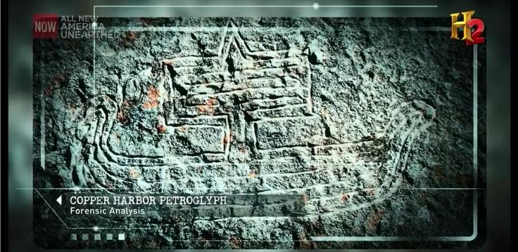 Screen Capture of the Copper Harbor Petroglyph